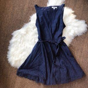 BB Dakota Navy Eyelet Dress | Size 8